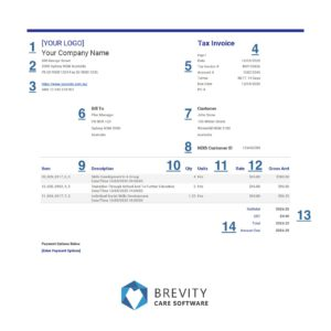 ndis invoice template