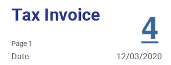 ndis invoice date of invoice requirement