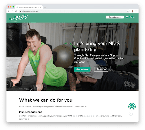 find ndis participants through plan partners home page