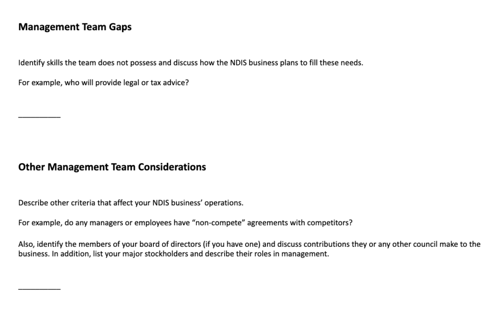 ndis business plan template part 8