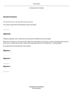 ndis business plan template
