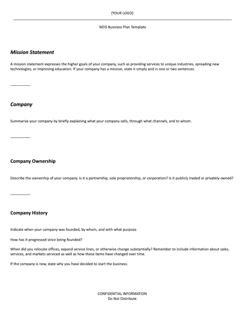ndis business plan template part 1