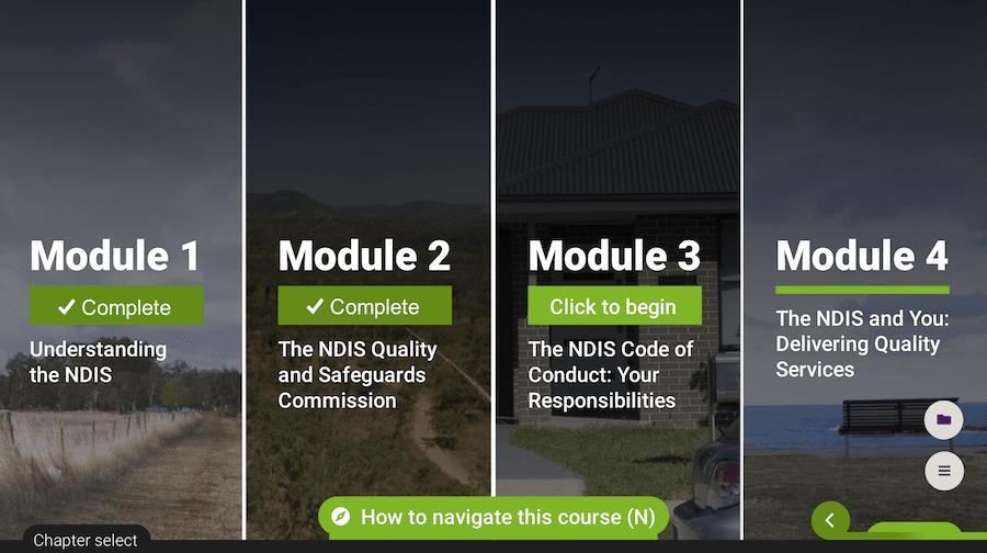 ndis orientation module sub modules