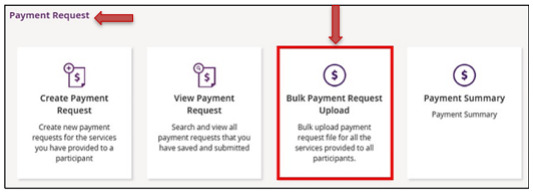ndis bulk payment request