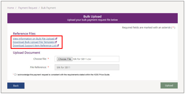 ndis bulk payments request upload